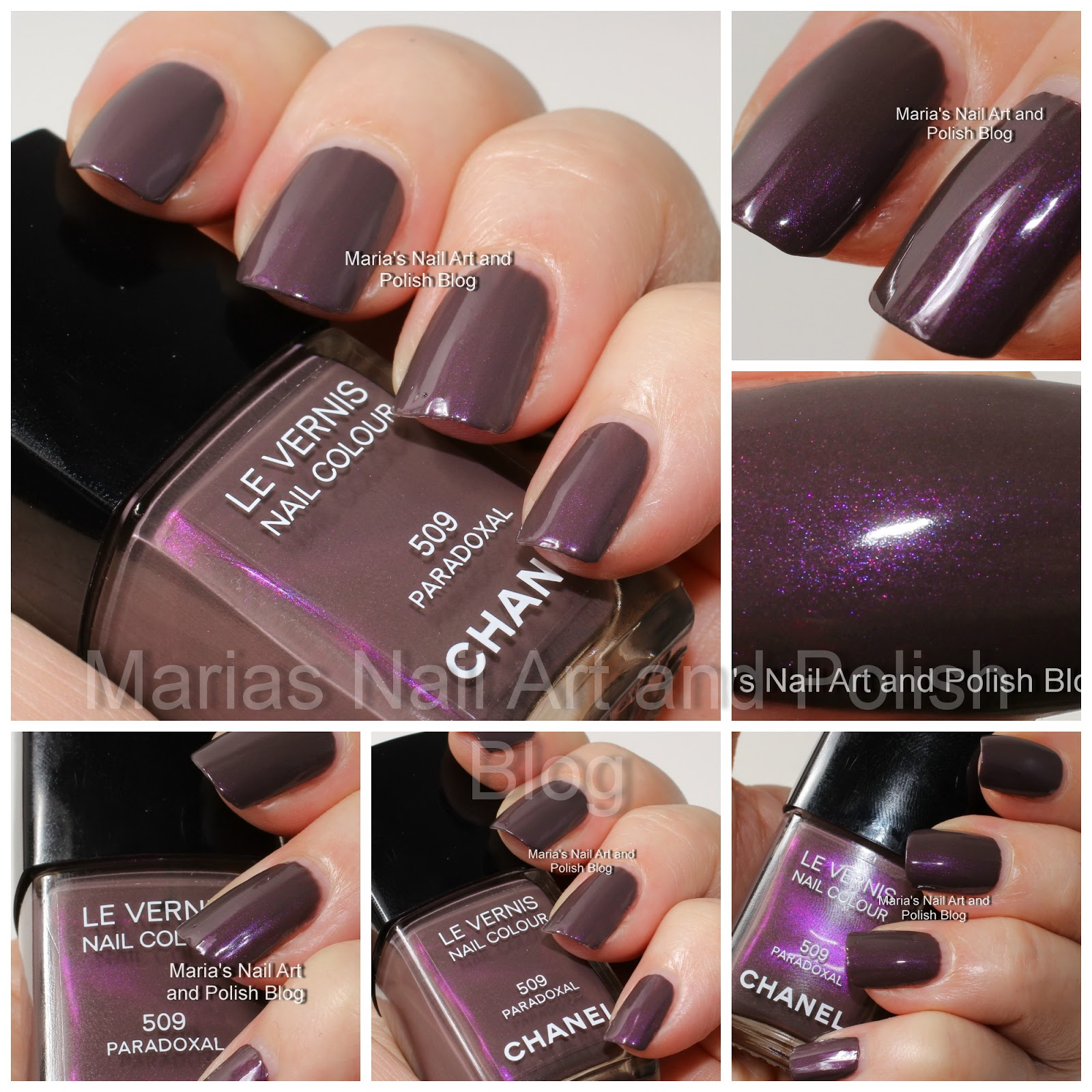 Prettyfulz Fall Nail Art Design 2011: Marias Nail Art And Polish Blog: Chanel Paradoxal 509