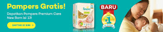 Info Sampel - Sampel Gratis Produk Pampers Premium Care Tapped ukuran New Born 13pc