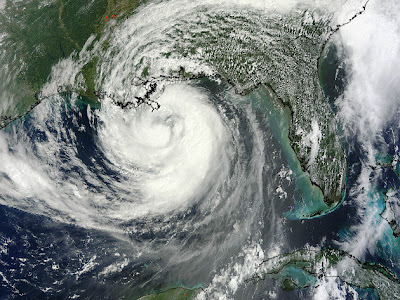 Hurricane Isaac as seen from space