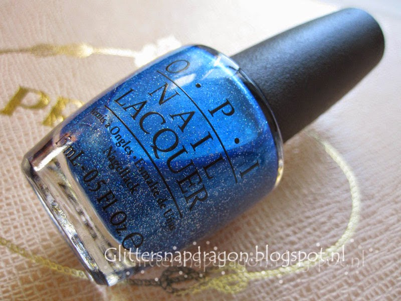 OPI Blue Chips or The Flowers are Blue-ming