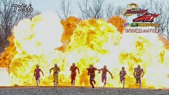 Phim Shuriken Sentai Ninninger Vs Kamen Rider Drive