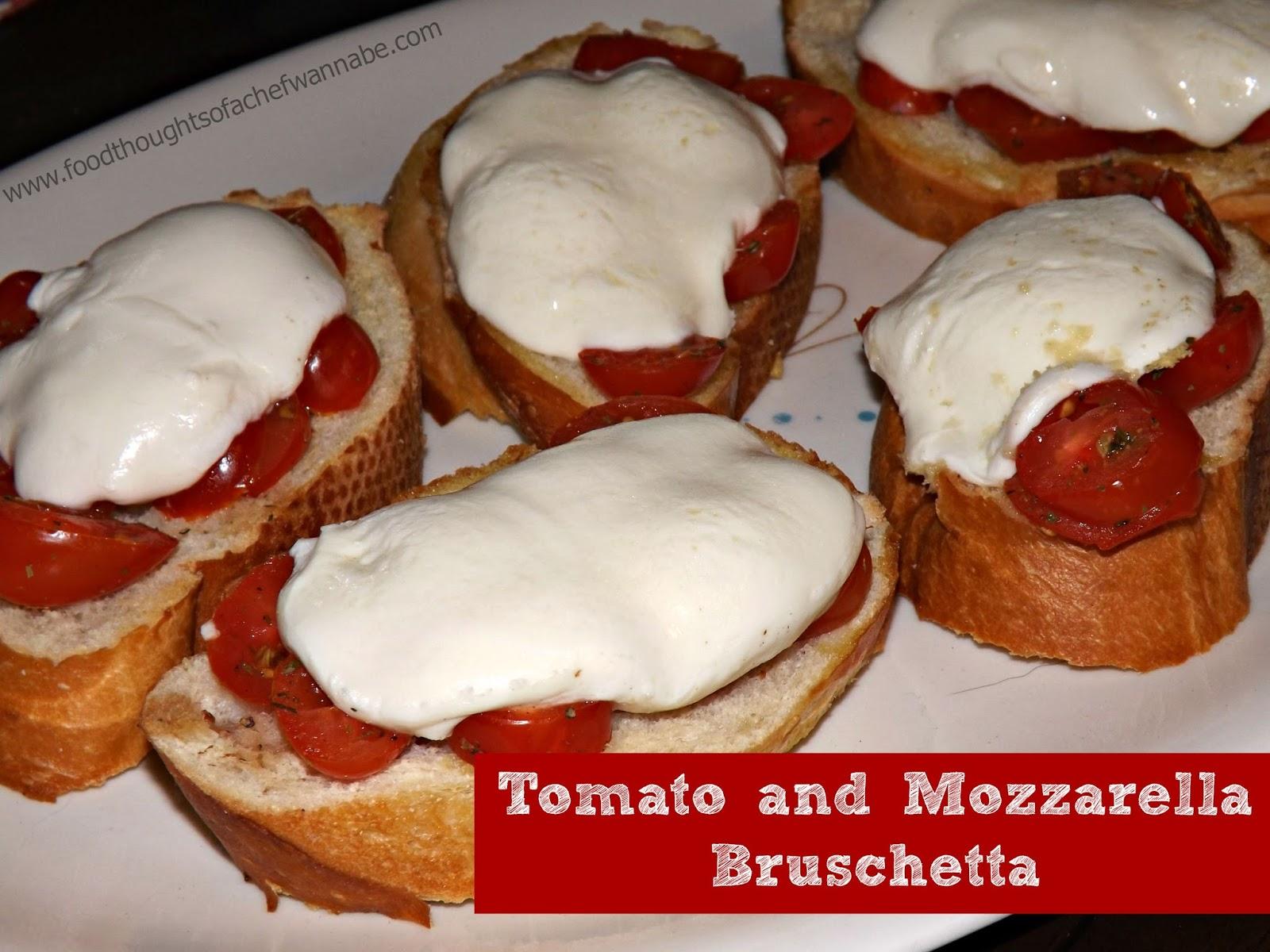 FoodThoughtsOfaChefWannabe: Tomato and Mozzarella Bruschetta
