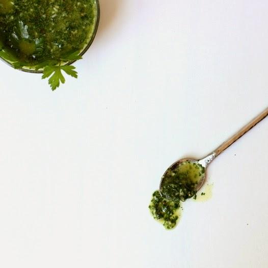 Chimichurri Sauce & Spoon