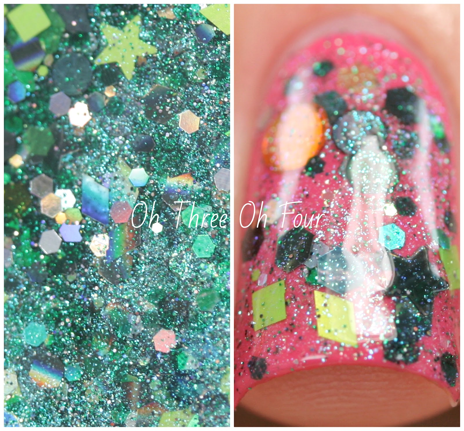 Lynnderella Top o' the Glitter Swatch