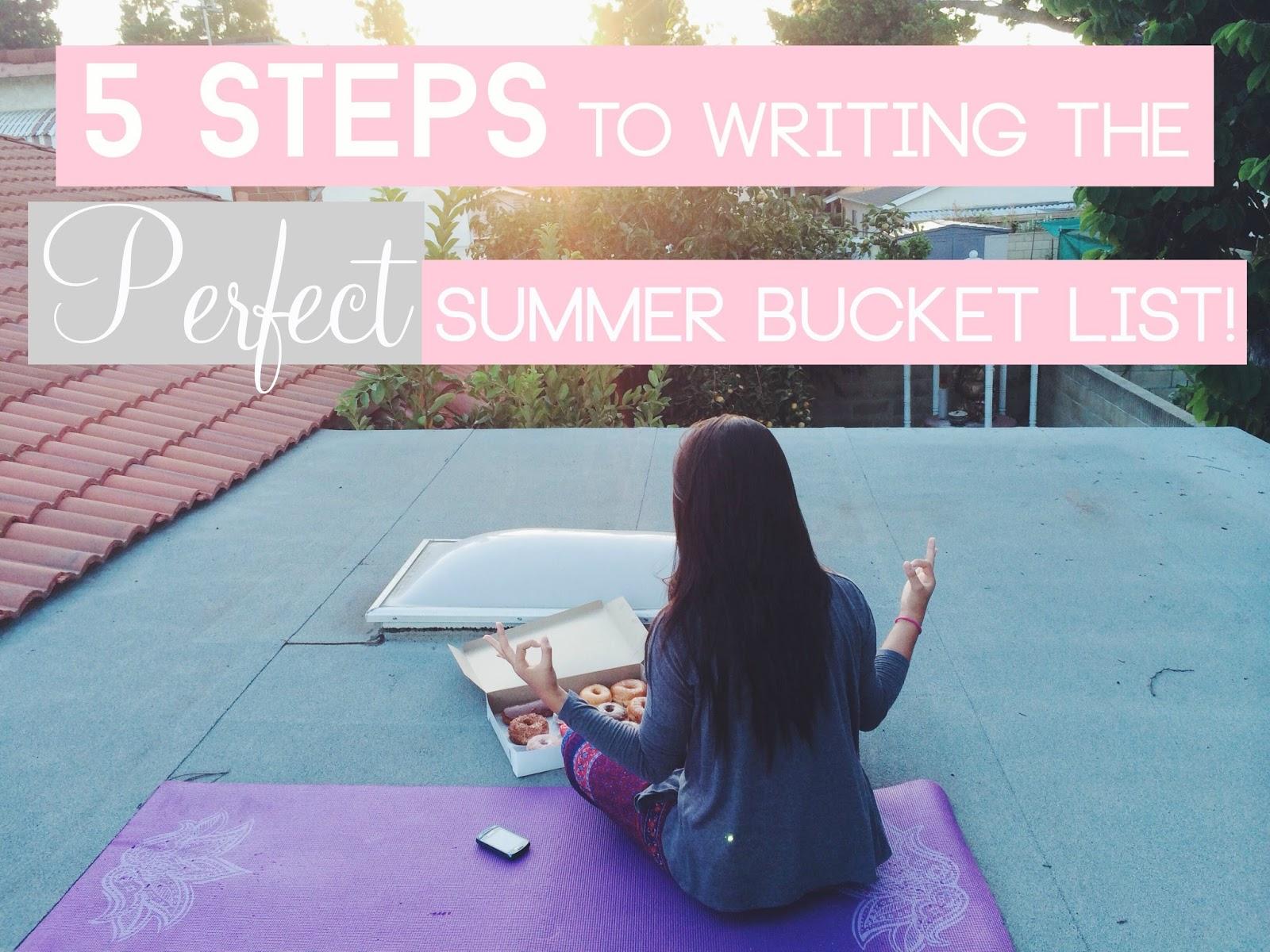 summer bucket list, write a bucket list, bucket list, list, summer