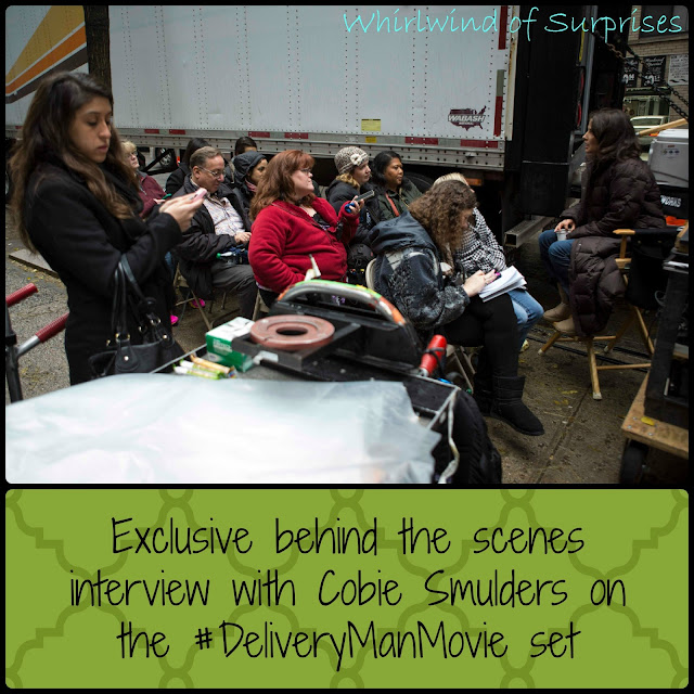 Behind the scenes interview with Cobie Smulders on the #DeliveryManMovie Set