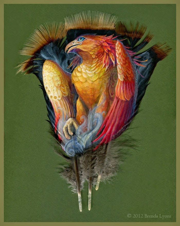 Por Amor al Arte: Plumas pintadas de Brenda Lyons.