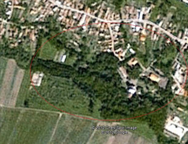 castel si parc arcus vedere din satelit