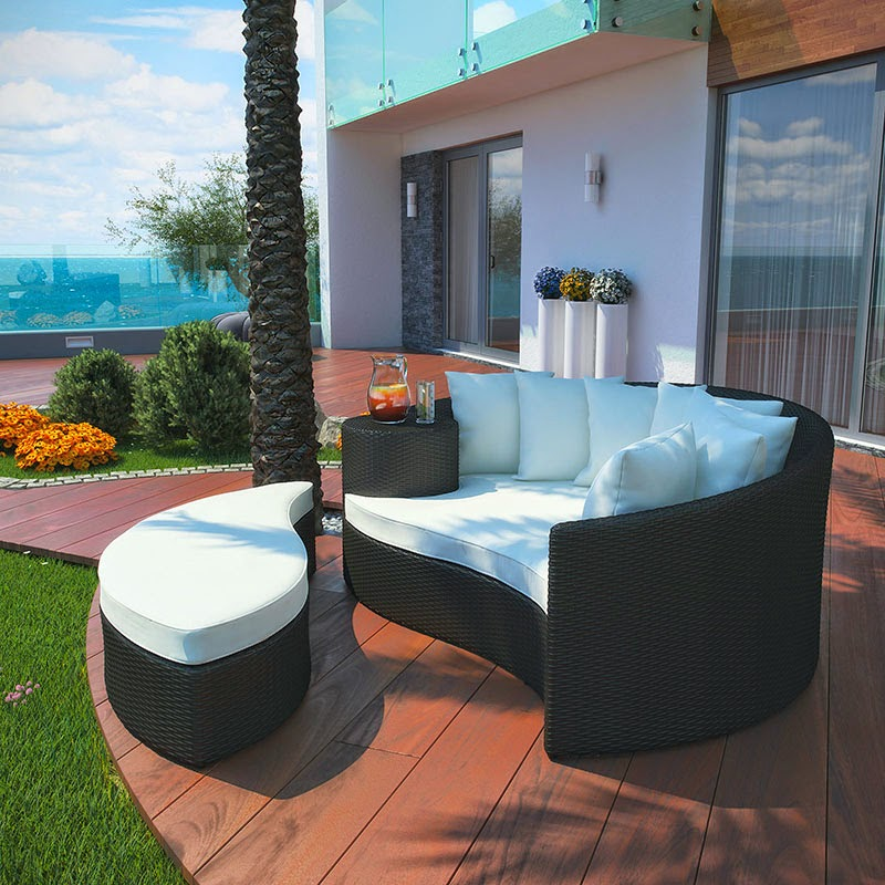 Taiji Daybed in Espresso and White