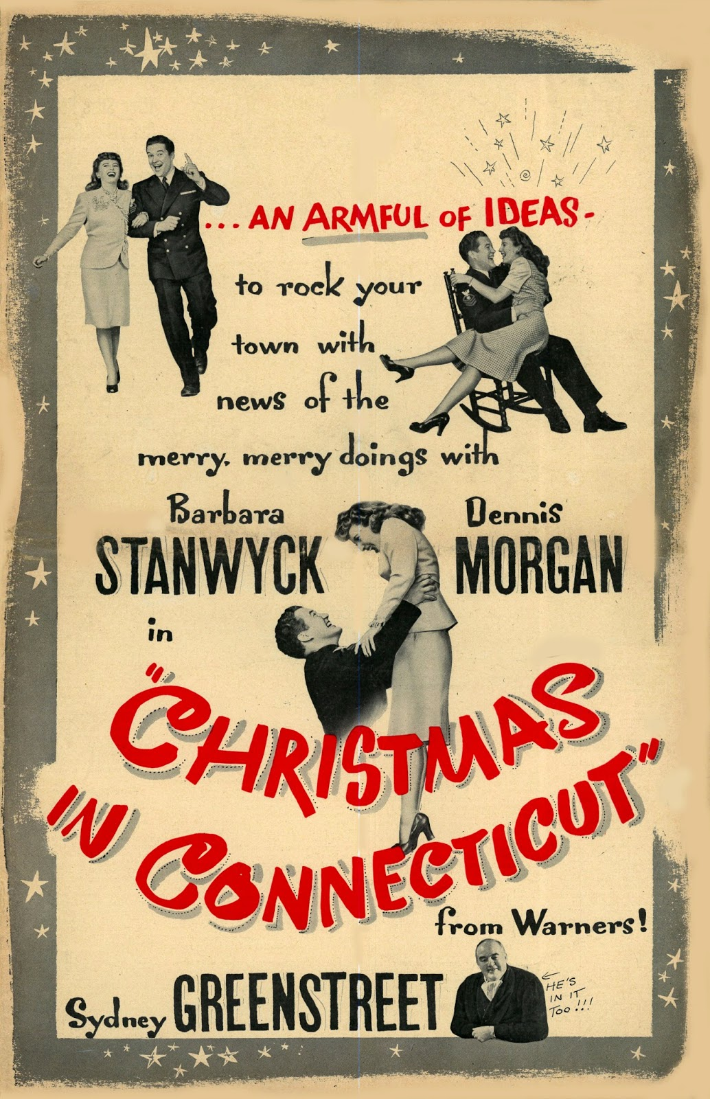 Barbara Stanwyck Invites You To Christmas In