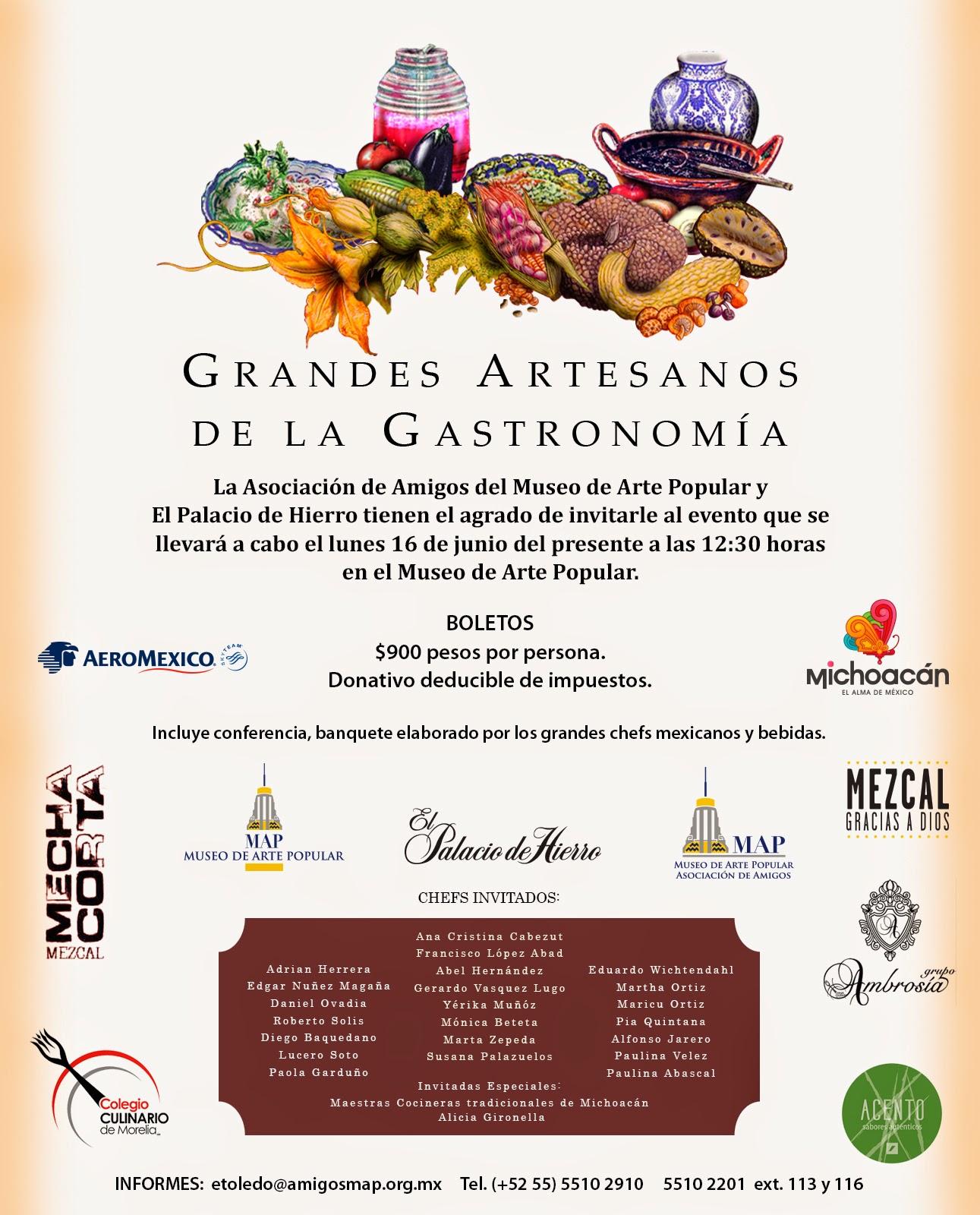 Grandes Artesanos de la Gastronomía 2014 en el Museo de Arte Popular