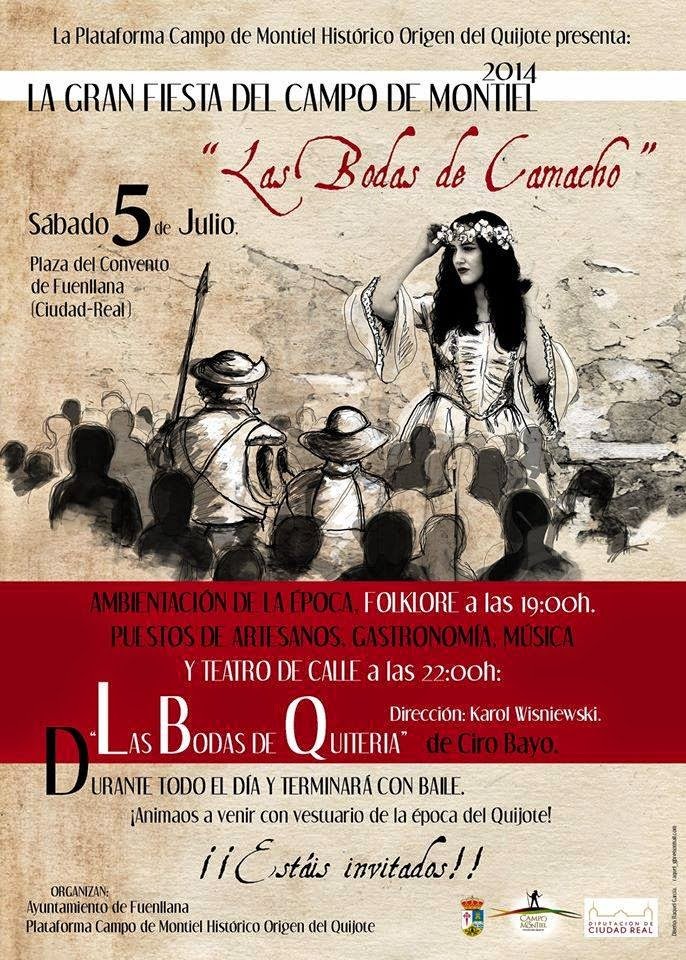 Bodas de Camacho, Don Quijote de la Mancha, Sancho Panza, Campo de Montiel, España