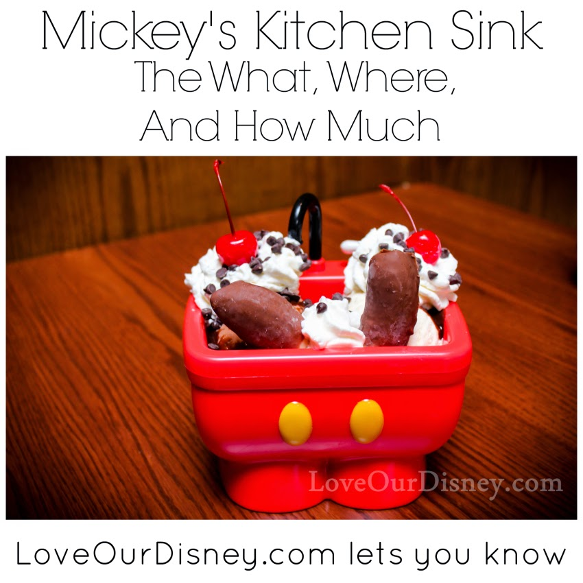 LoveOurDisney.com is sharing the what, where, and how much about Mickey's Kitchen Sink. Will you be getting this next time you are at Disneyland?