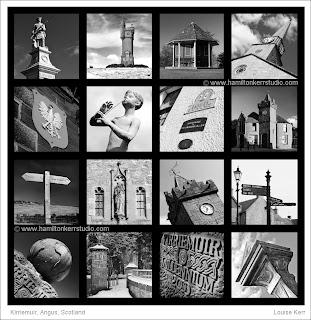 architecture places interest black white Hamilton Kerr montage conservation  scotland landscape town scape