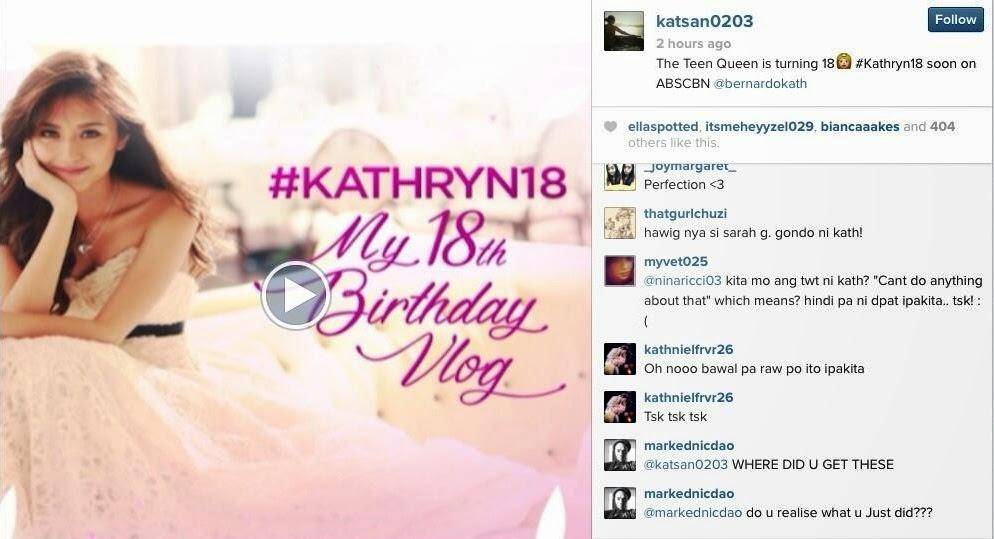 Katrhyn Bernardo leaked video log debut