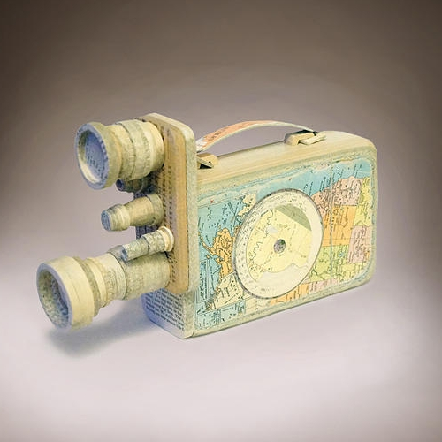 05-Bell-and-Howell-Ching-Ching-Cheng-Vintage-Camera-Sculptures-Made-of-Books-and-Maps-www-designstack-co