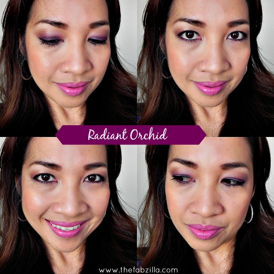 how to wear radiant orchid, radiant orchid makeups, radiant orchid lips, makeup sofia vergara
