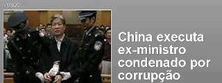china corrupção executa ministro