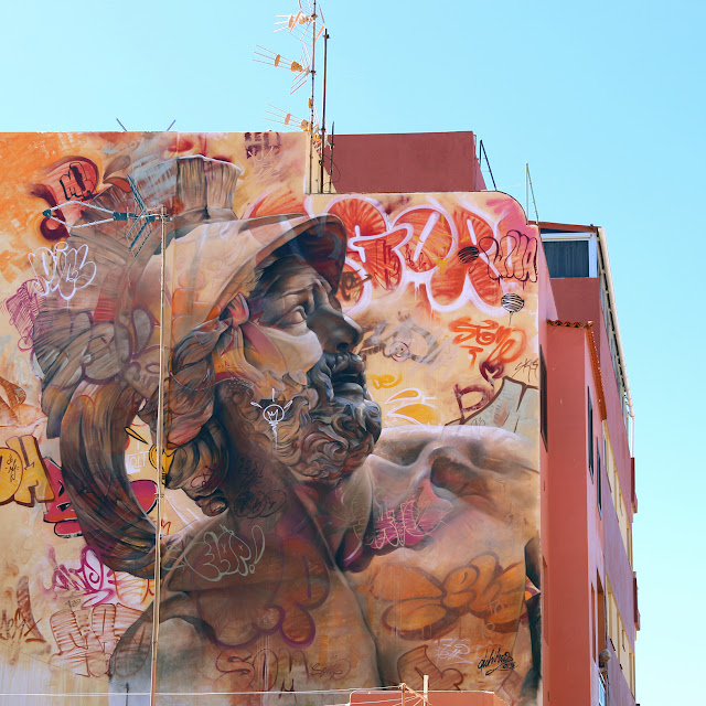 PichiAvo recently spent some time in Tenerife, Spain where they were invited to work on a new piece for the Puerto Street Art Festival on the streets of Puerto De La Cruz.