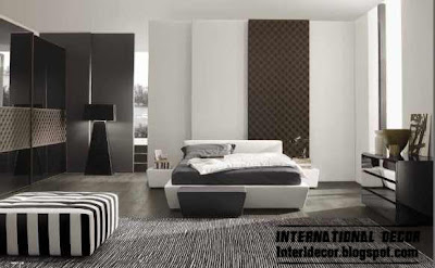 black and white bedroom design with Turkish decorating ideas 2014