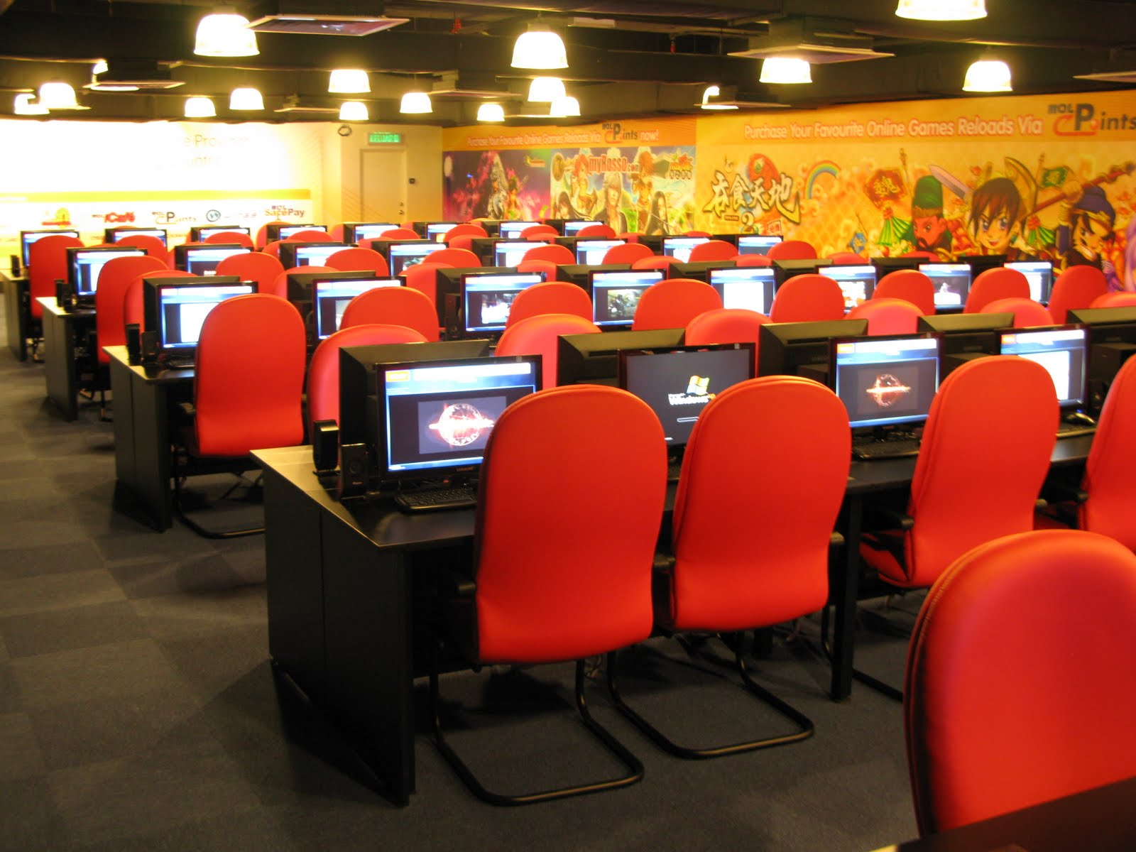 Internet cybercafe - Internet shop design ...