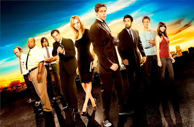 "Chuck Season 5 Cast Photo - Scott Krinsky as Jeff Barnes, Mark Christopher Lawrence as Big Mike, Vik Sahay as Lester Patel, Adam Baldwin as John Casey, Yvonne Strahovski as Sarah Walker, Zachary Levi as Chuck Bartowski, Joshua Gomez as Morgan Grimes, Ryan McPartlin as Devon ""Captain Awesome"" Woodcomb & Sarah Lancaster as Ellie Bartowski"