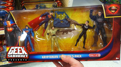 Mattel Man of Steel target Exclusive 5-Pack Superman Zod JorEl Namek