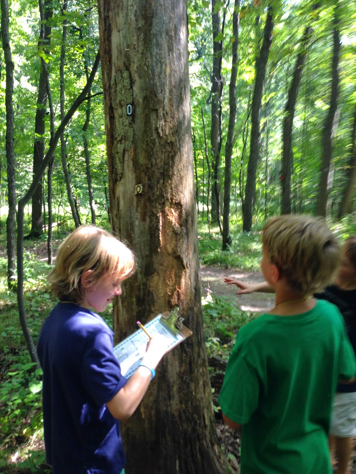 this sent us into the woods with a map and compasses in search of stations and clues