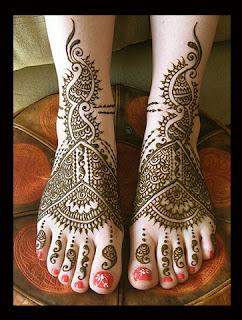 Latest Arabic Feet Mehndi Designs 2012