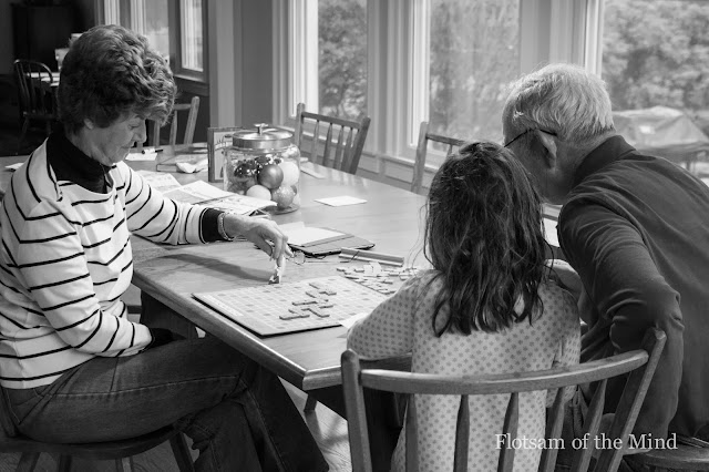 Playing Scrabble with the Grandparents - Flotsam of the Mind