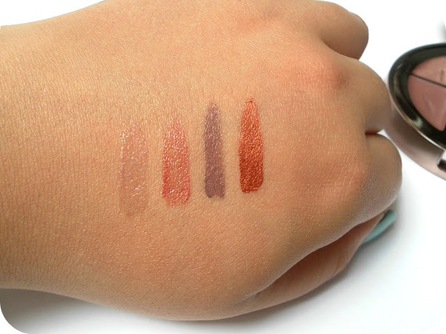 A picture of the Sunkissed Bronzing Radiance Compact lipstick swatches