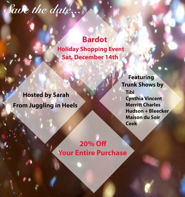Bardot's Holiday Event