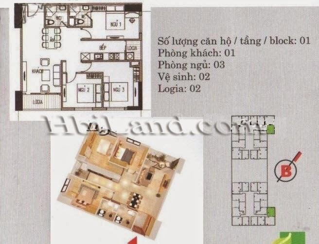 mặt bằng căn hộ 78.4m2 chung cư imperia garden