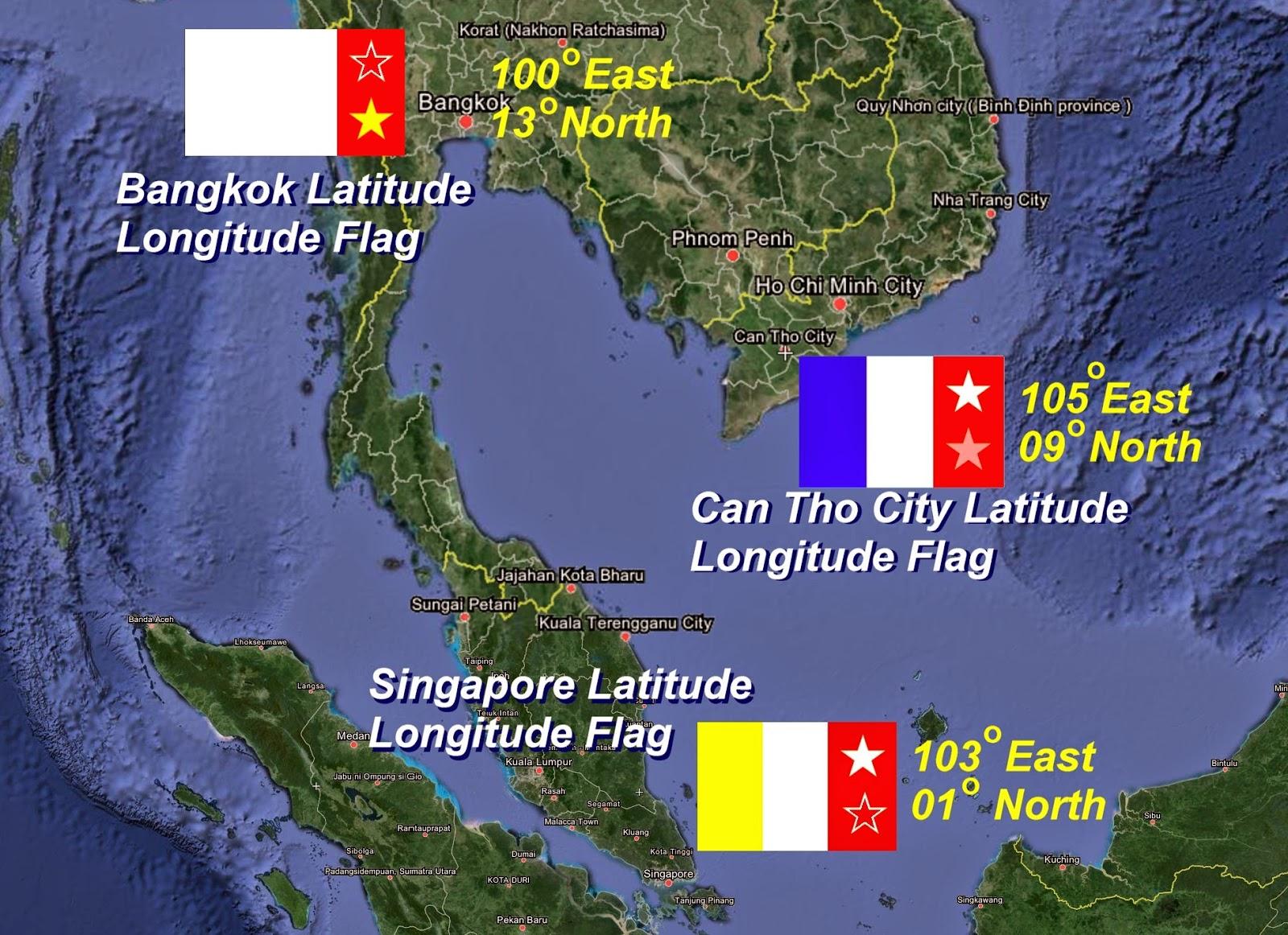 The Voice Of Vexillology Flags Heraldry International - Longitude and latitude of vietnam