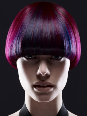 Hair Color with Multi-Color Tones