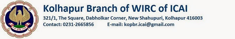 Kolhapur Branch of WIRC of ICAI