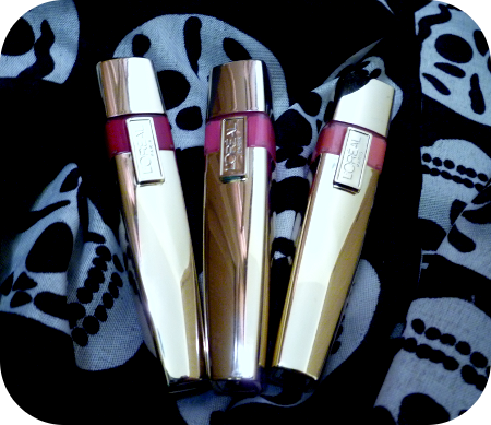 L'Oreal Colour Riche Wet Shine Stain in Infinite Fuchsia, Pink Rebellion, Rose On And On