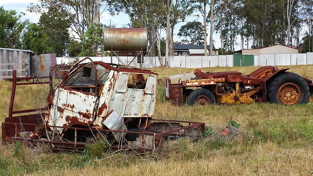 rusted farming equipment in regional NSW australia