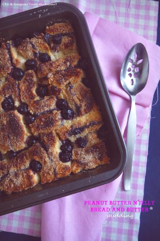 pb n' j bread & butter pudding