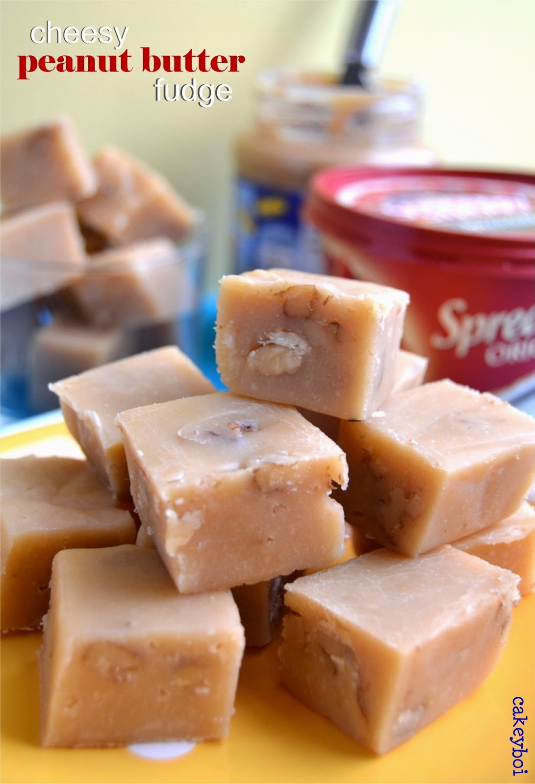 cheddar cheese and peanut butter fudge