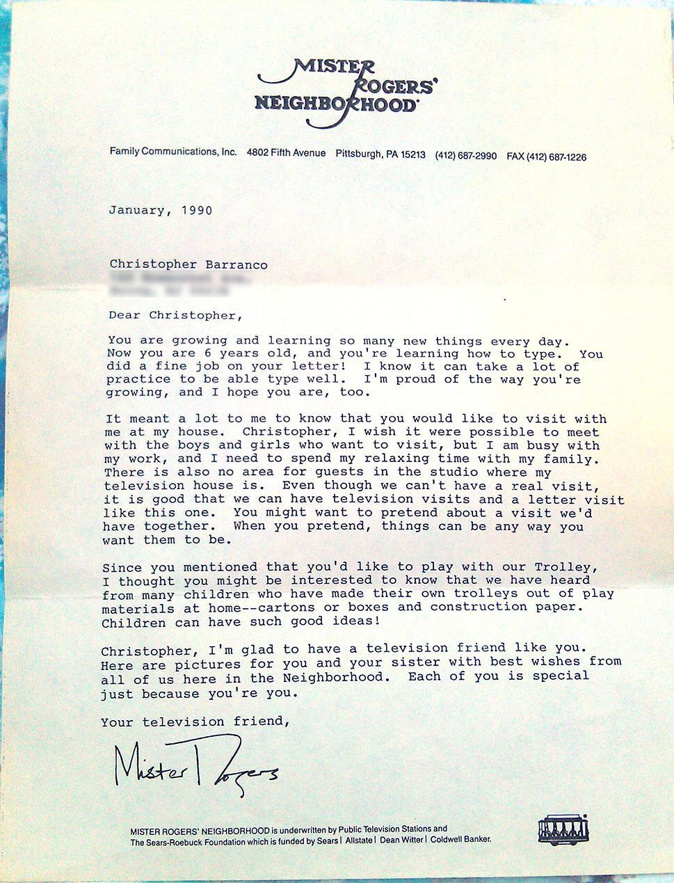 Copyranter 1990 How Mr Rogers Dealt With Stalking 6