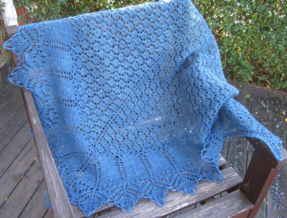 Knitting Lifelines In Lace : Lappone bertha lace shawl in jeaba blue and lifelines