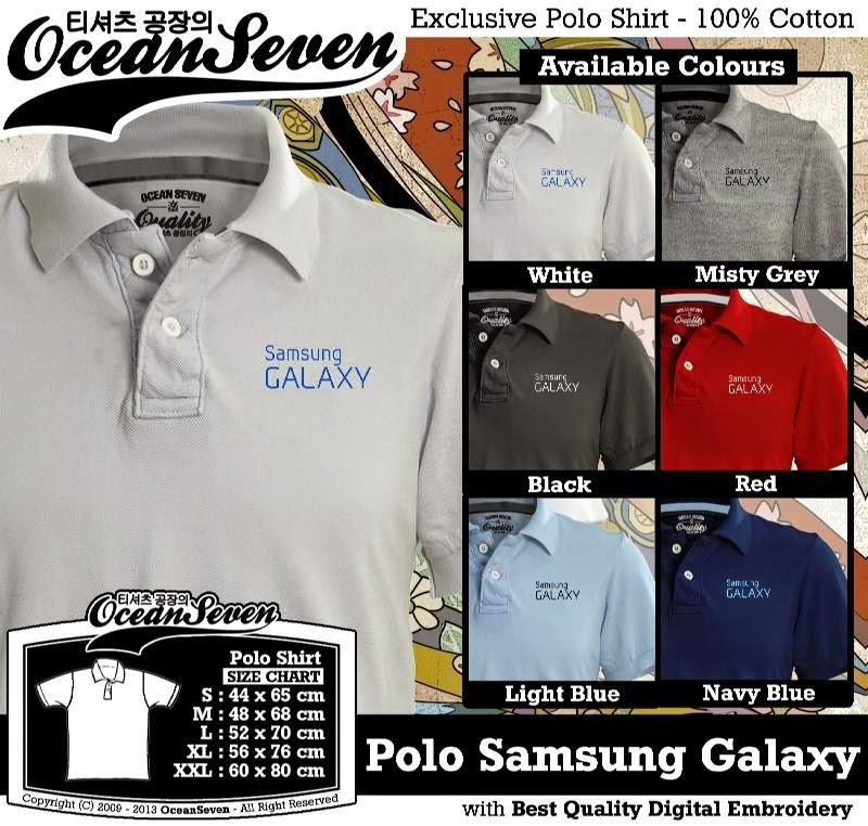 Kaos Polo Samsung Galaxy