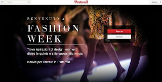 Pinterest Fashion Week Milano