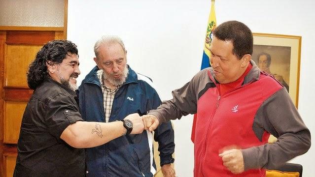 Güzel İnsanlar...Diego,Chavez ve Fidel...