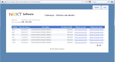 NeXT Software cobrança usuários NeXT ERP