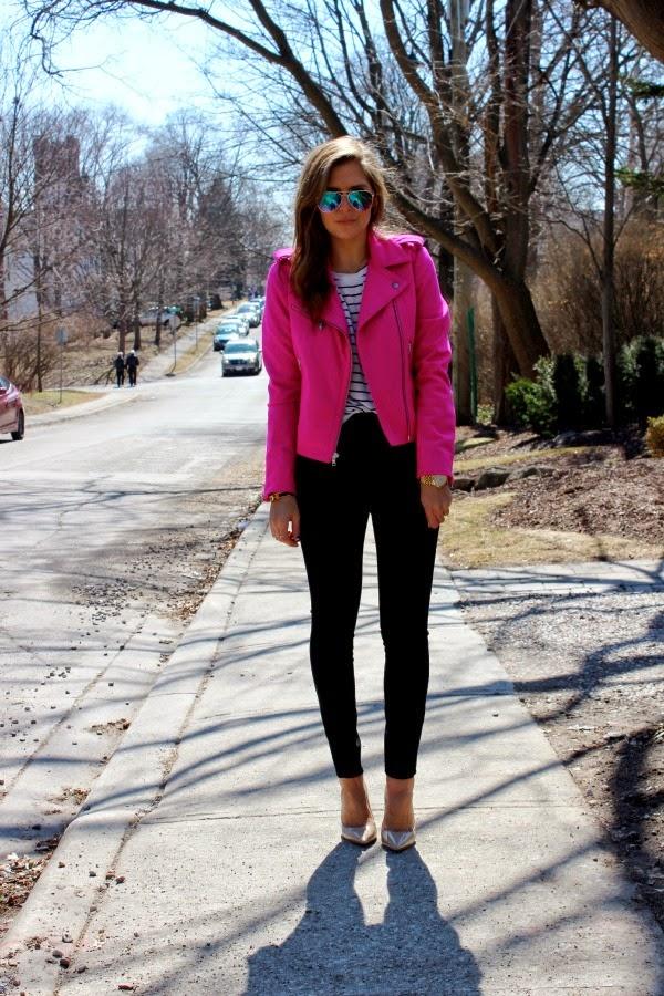hot pink motorcycle jacket