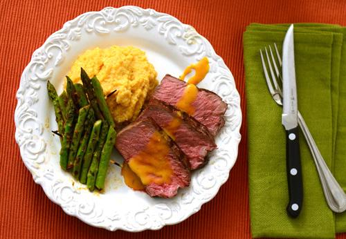 Grilled Manhattan Beef Filet with Cajun Sauce, Big Green Egg steak recipe, kamado grill steak recipe