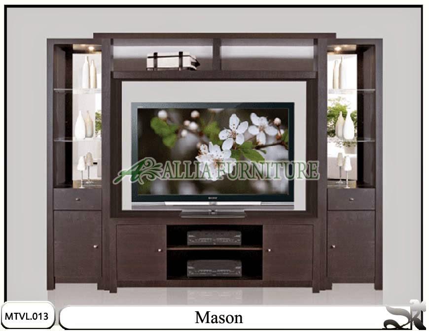 Lemari rak tv lcd minimalis mason