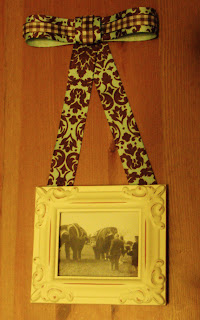 Vintage circus photo in shabby chic frame handmade by Theresa Fine for Ouida's Trunk on Etsy